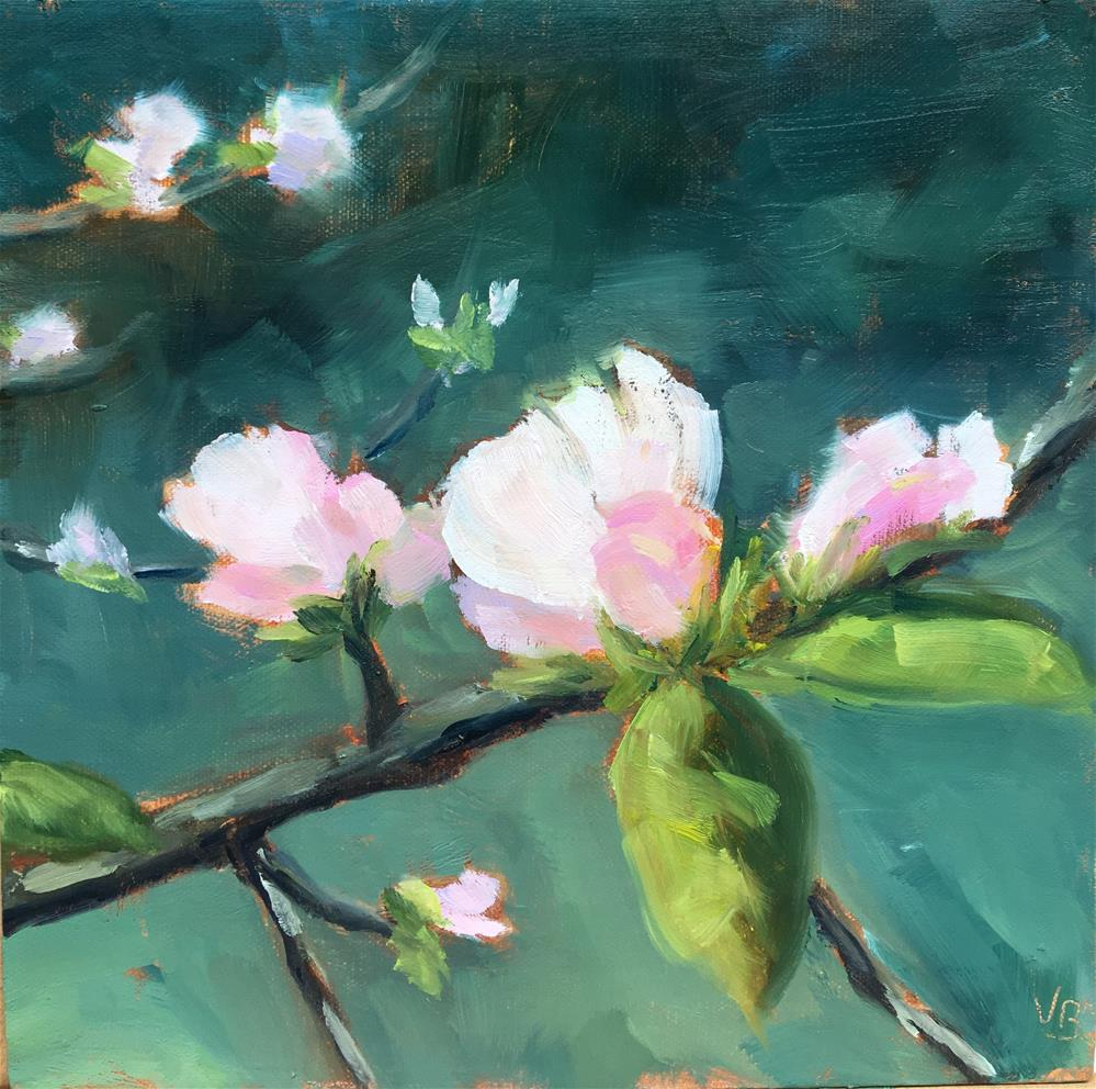 """Apple Blossoms"" original fine art by Victoria  Biedron"