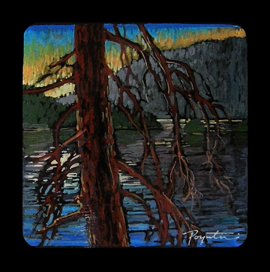 """3.01 Clear Lake - Tamarack"" original fine art by Jan Poynter"