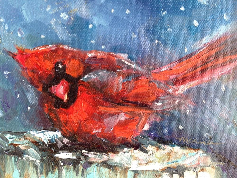"""Undaunted"" original fine art by Marcia Hodges"