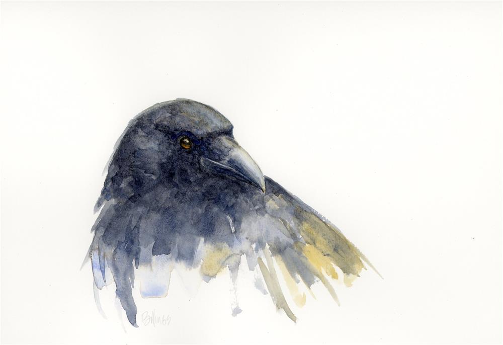 """Crow Study V"" original fine art by Susanne Billings"