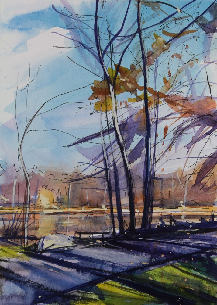 """Lakeside"" original fine art by Chris  Breier"