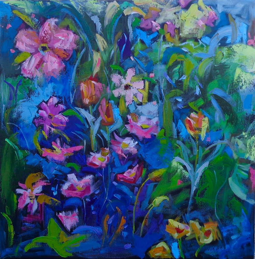 """FLORA GONE WILD"" original fine art by Jean Delaney"