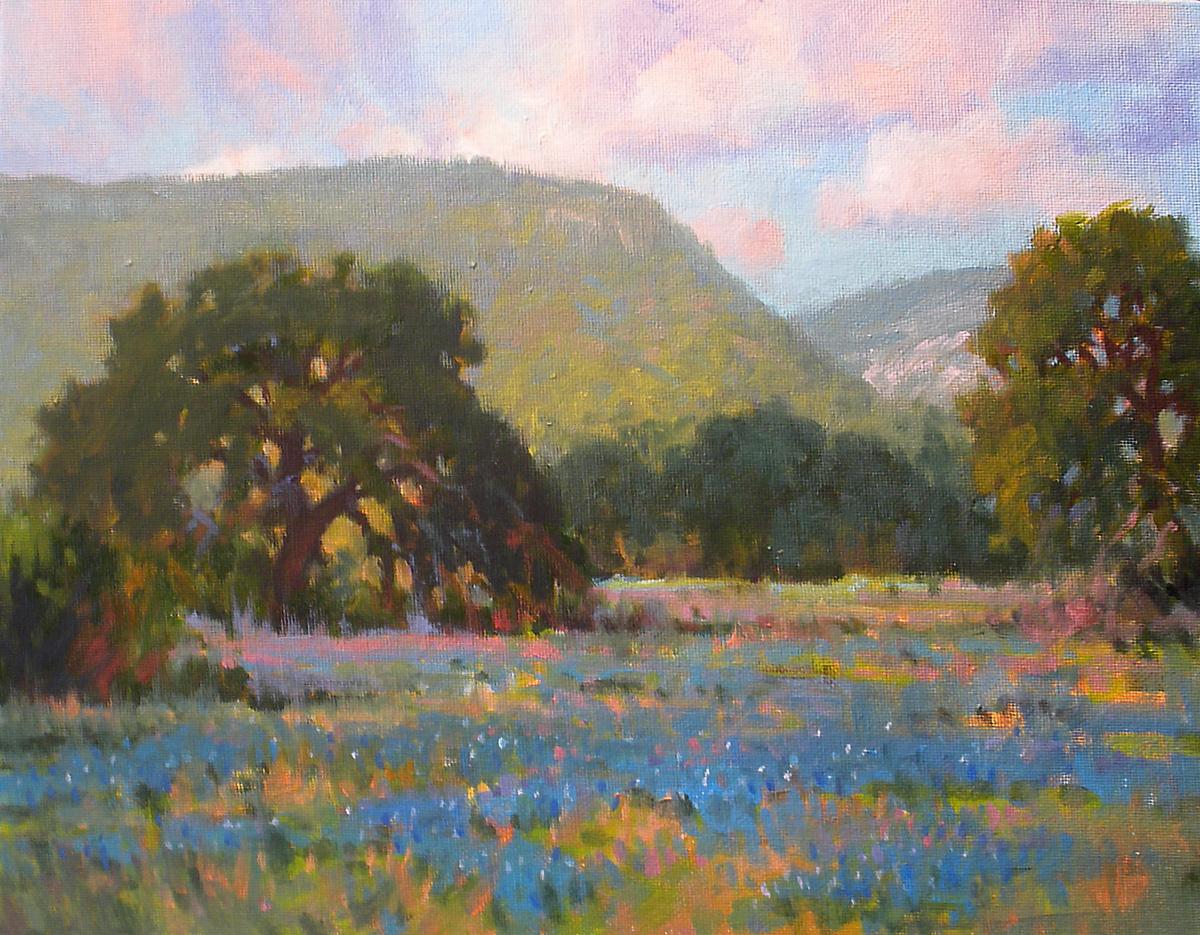 """Valley of Blue"" original fine art by David Forks"