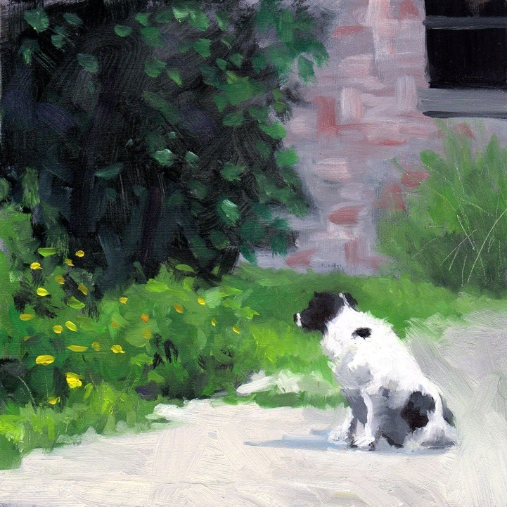 """#286 Something in The Bushes"" original fine art by Brian Burt"