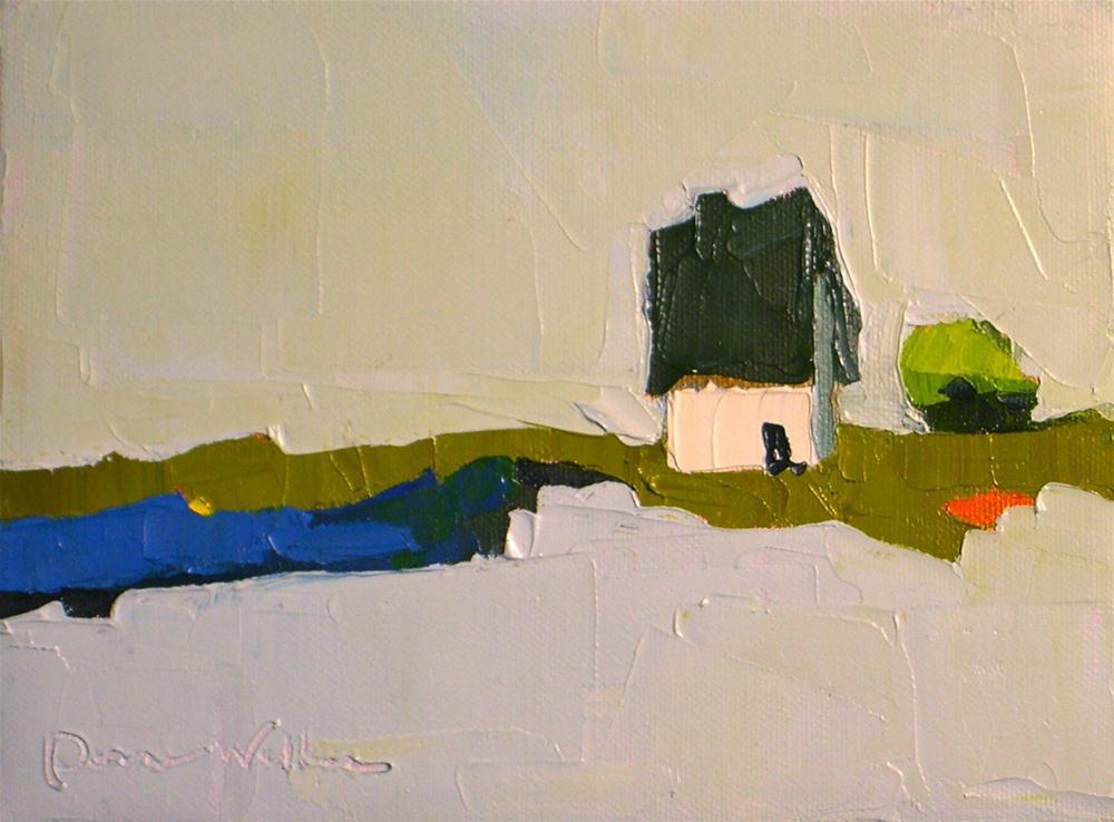 """Blue Pond"" original fine art by Donna Walker"
