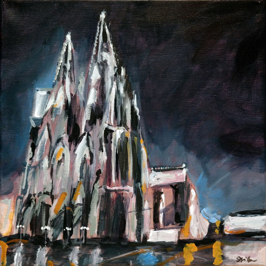 """1186 Cologne Cathedral"" original fine art by Dietmar Stiller"