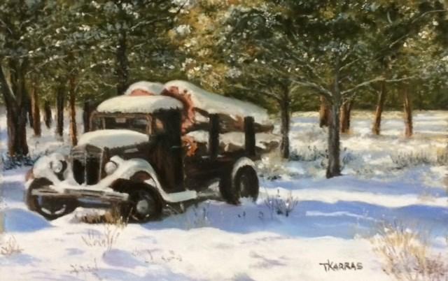 """The Last Haul"" original fine art by Christina Karras"
