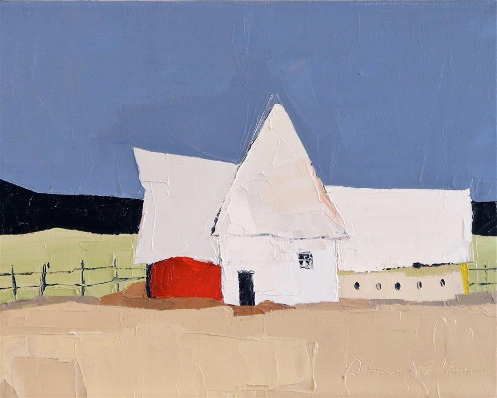 """Red Barn"" original fine art by Donna Walker"