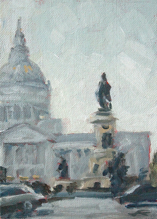 """City Hall"" original fine art by J. Farnsworth"