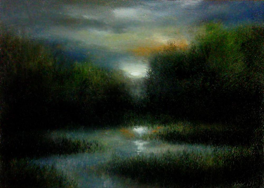 """""""Desert Wetlands"""" original fine art by Bob Kimball"""