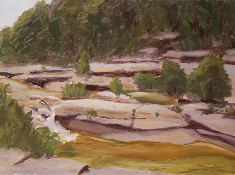 """Bull Creek Falls"" original fine art by Jane Frederick"