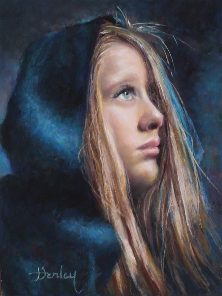 """""""Profile in Blue"""" original fine art by Denise Henley"""