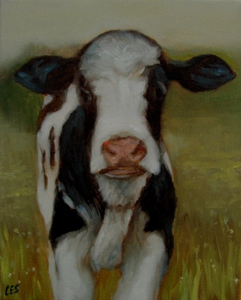 """Delightful Cow"" original fine art by ~ces~ Christine E. S. Code"