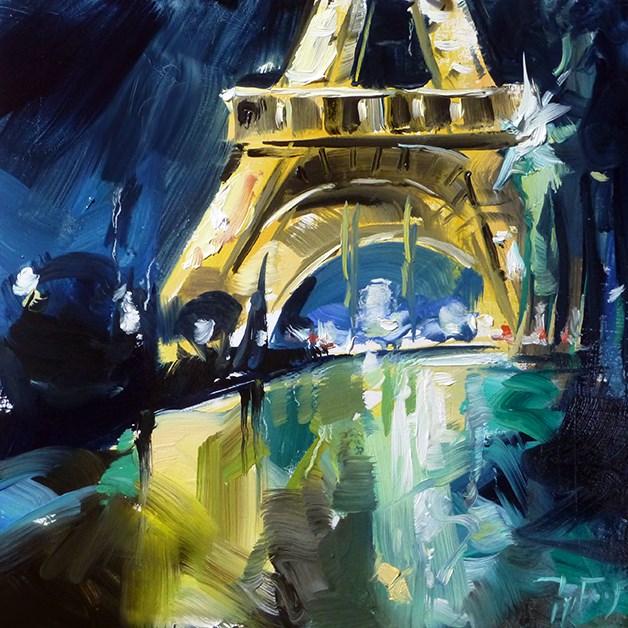 """Eiffelturm"" original fine art by Jurij Frey"