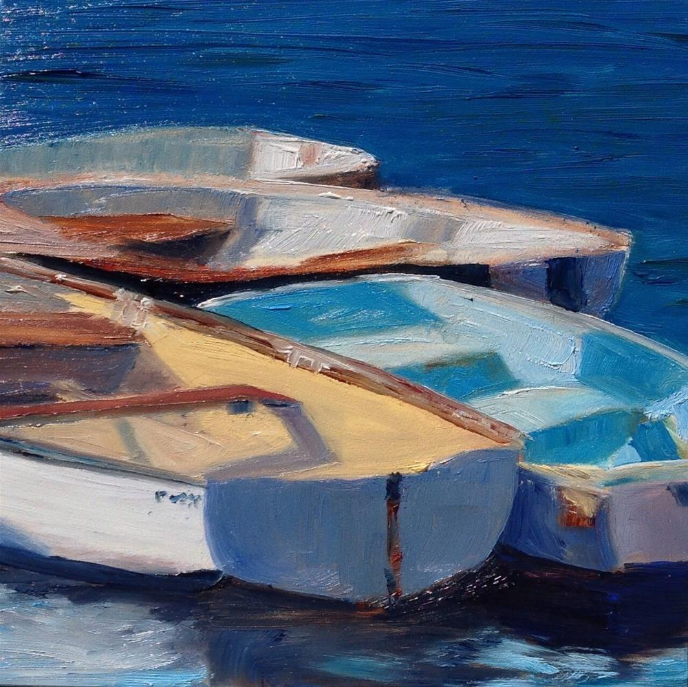 """Cotuit Dinghys 1"" original fine art by Debra Kennedy"