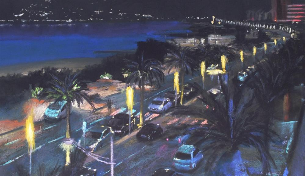 """""""Boulevard d'Alger"""" original fine art by Linee Baird"""