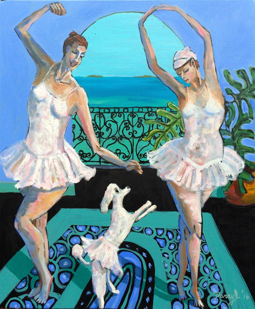"""Three Ballerinas"" original fine art by Darryl Freeman"