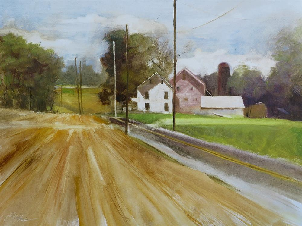 """Yellow Corn, Green Grass"" original fine art by Beth Bathe"
