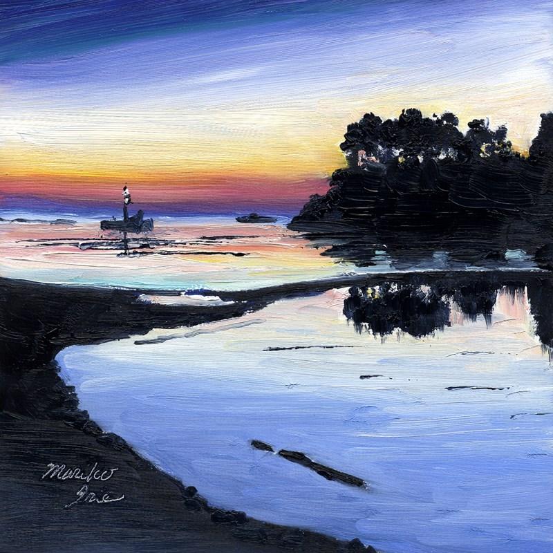 """Colorful Sunset"" original fine art by Mariko Irie"