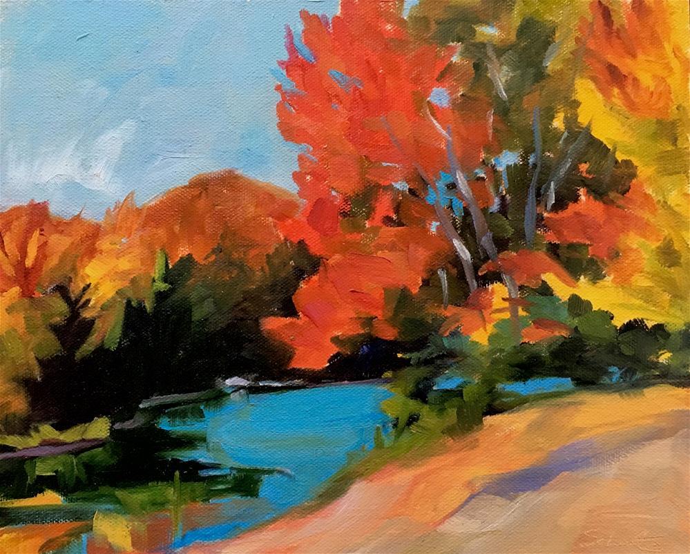 """Maples at Colton Pond"" original fine art by Lynne Schulte"