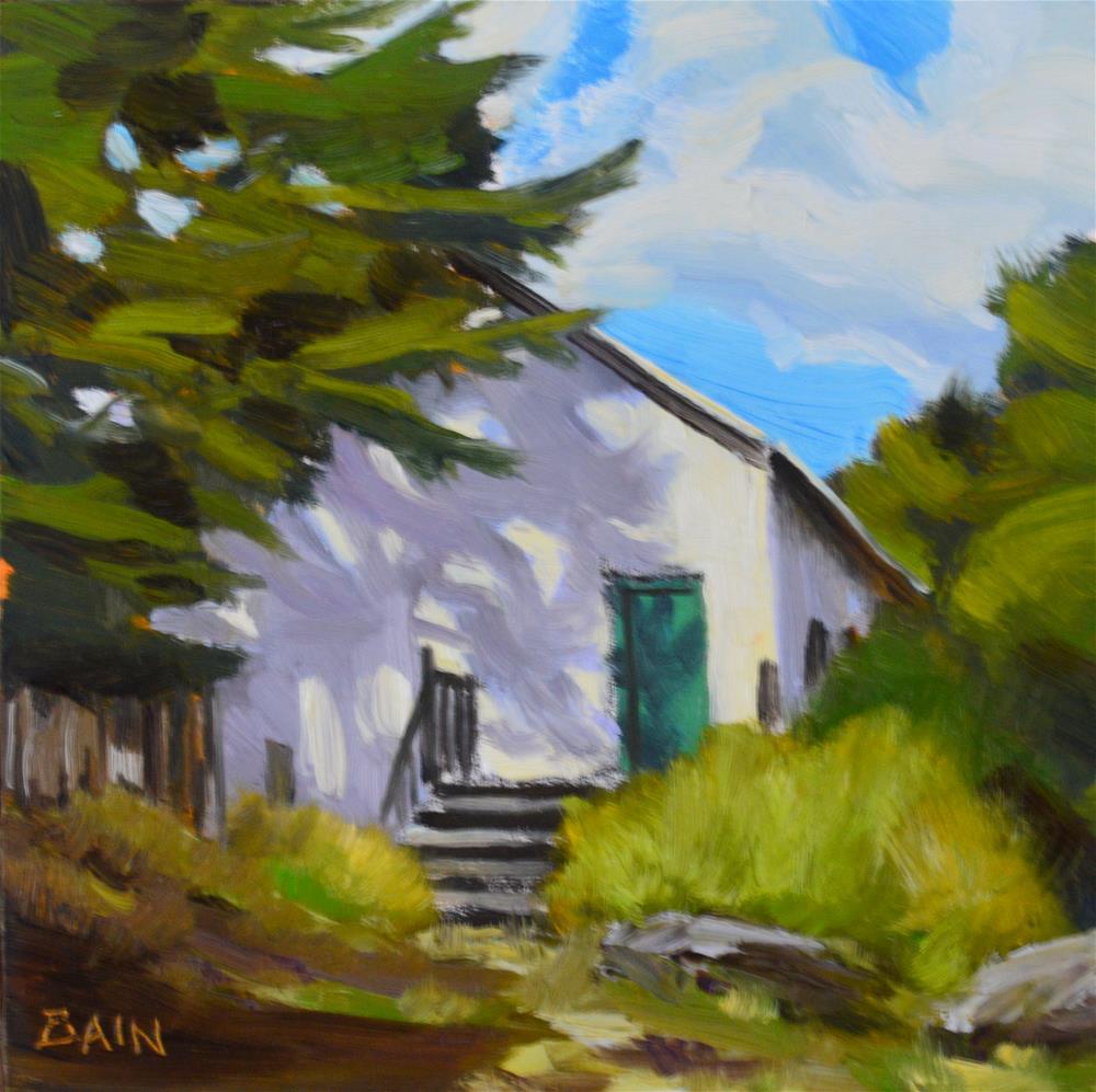"""Shed, Carmel Valley"" original fine art by Peter Bain"