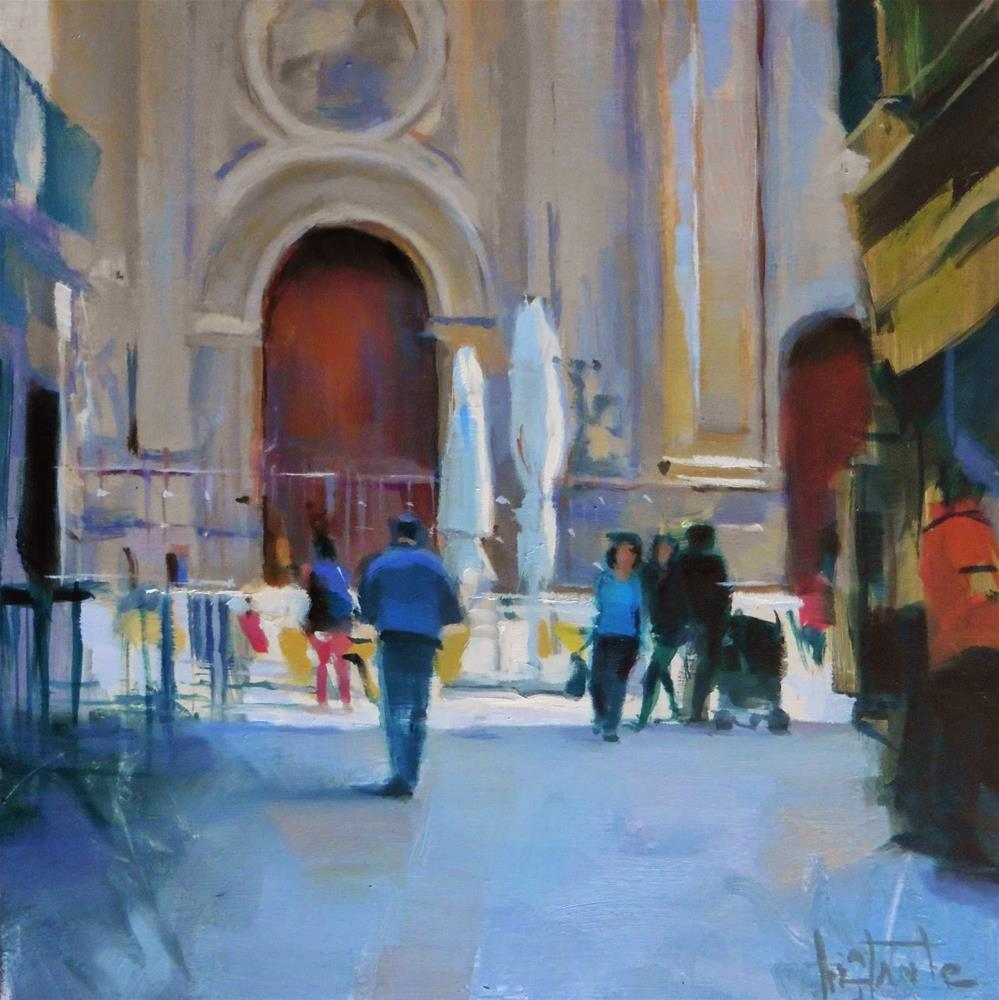 """Plaza de las `pasiegas"" original fine art by Víctor Tristante"