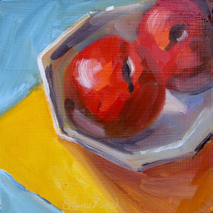 """Red Plums"" original fine art by Laura  Buxo"