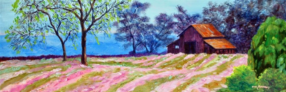 """Heather Farm and Painted Papers"" original fine art by Sue Furrow"