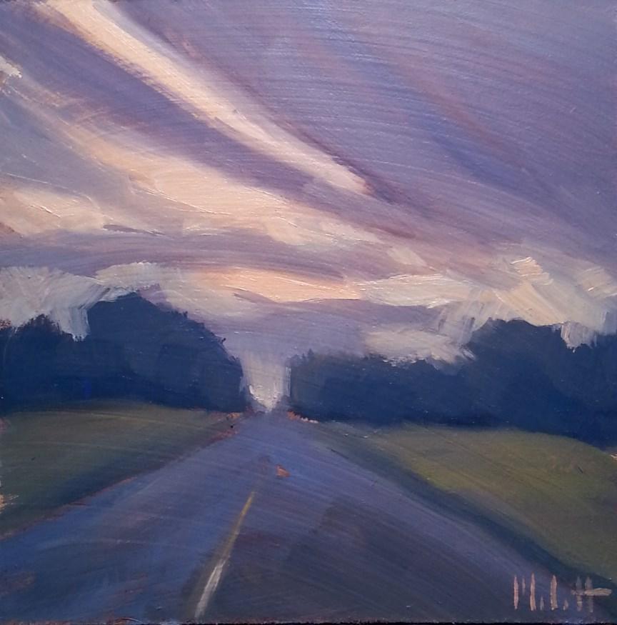 """Summer Sunset Landscape Oil Painting Impressionism"" original fine art by Heidi Malott"