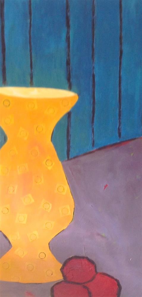 """""""Yellow Vase"""" original fine art by Janet Bludau"""