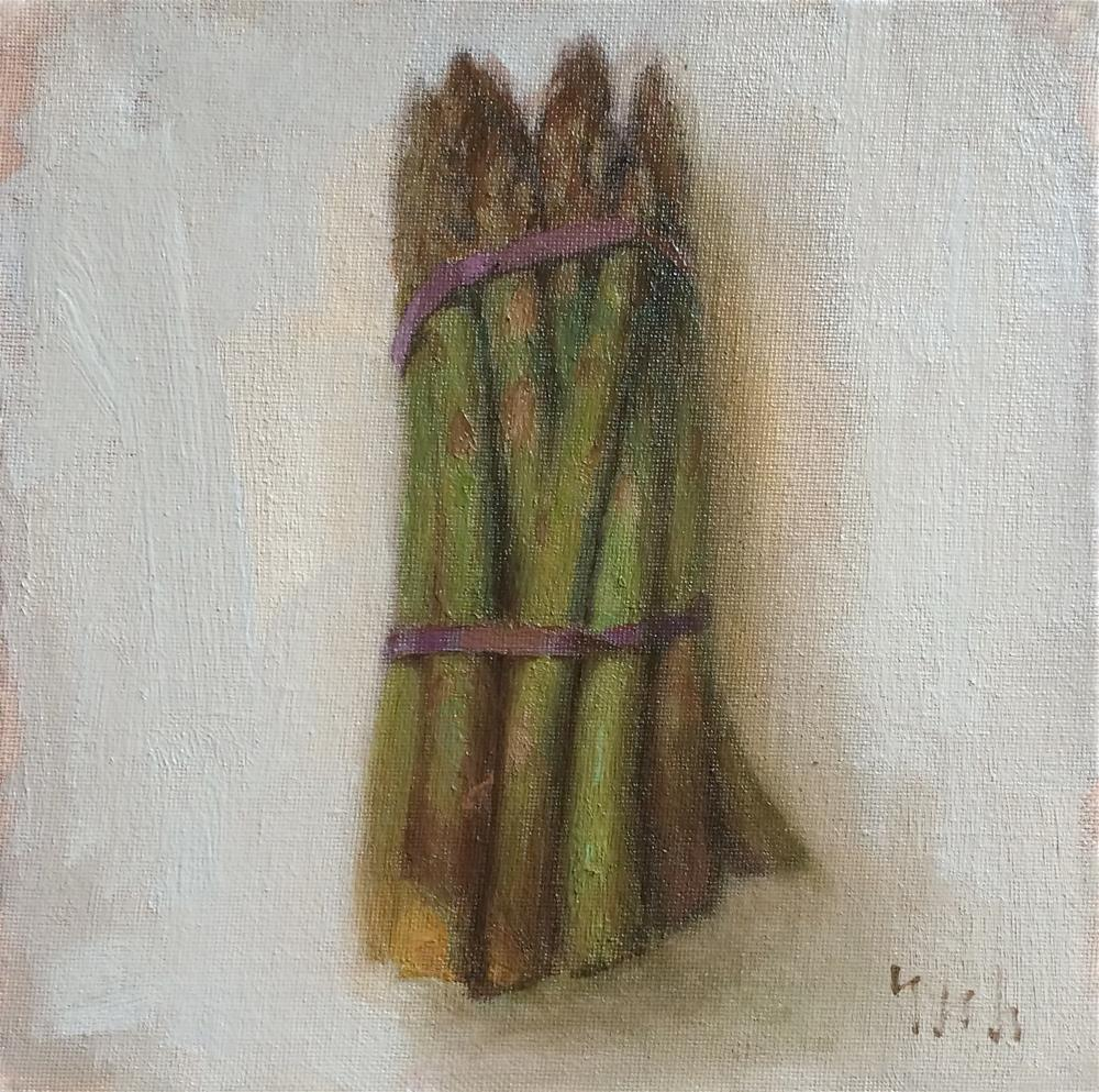 """asparagus"" original fine art by Yuehua He"