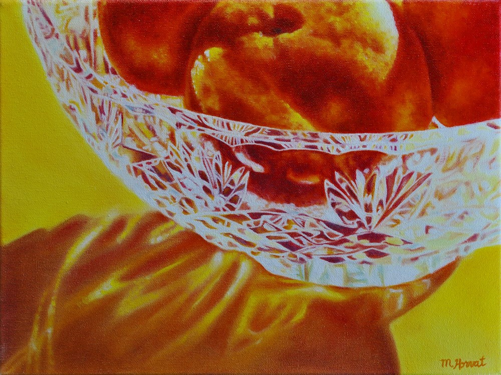 """Sunshine Clementine"" original fine art by Margaret Horvat"