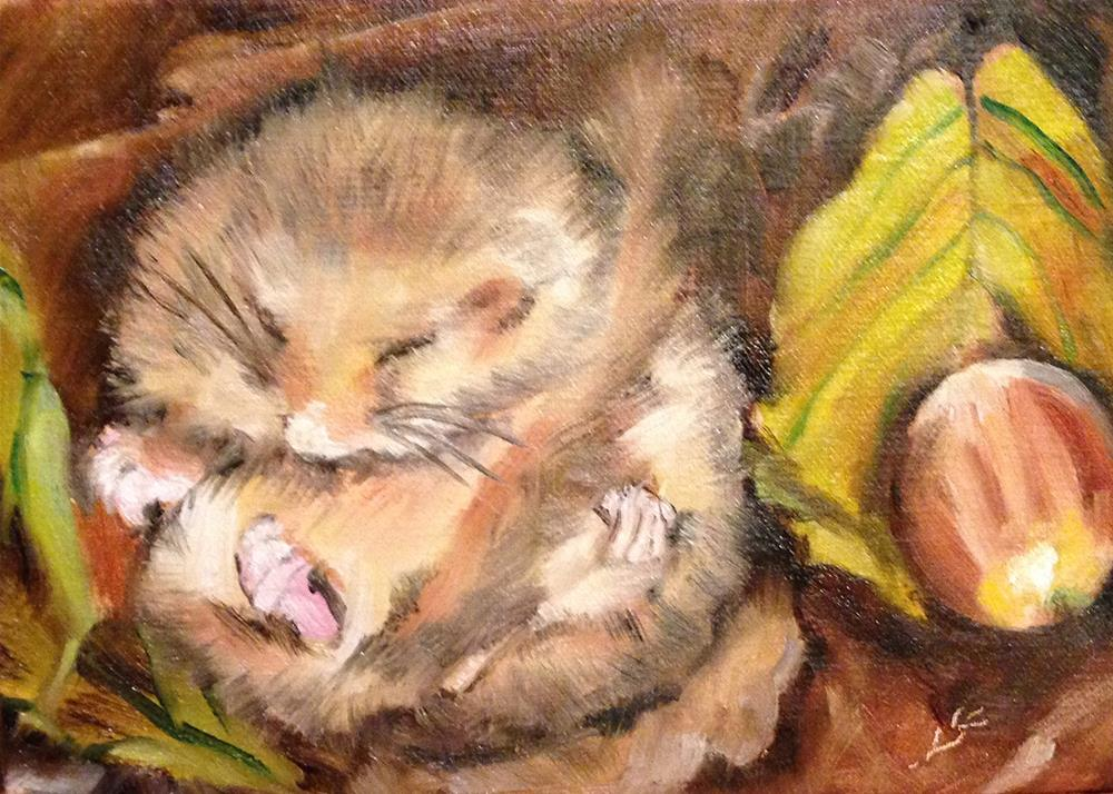 """Squirrel Siesta"" original fine art by Linda Lowery"