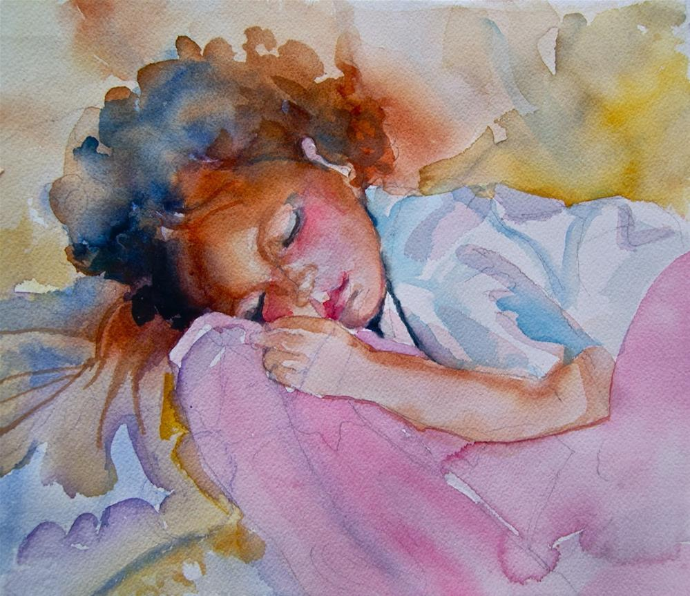 """Sydney Sleeping"" original fine art by Reveille Kennedy"