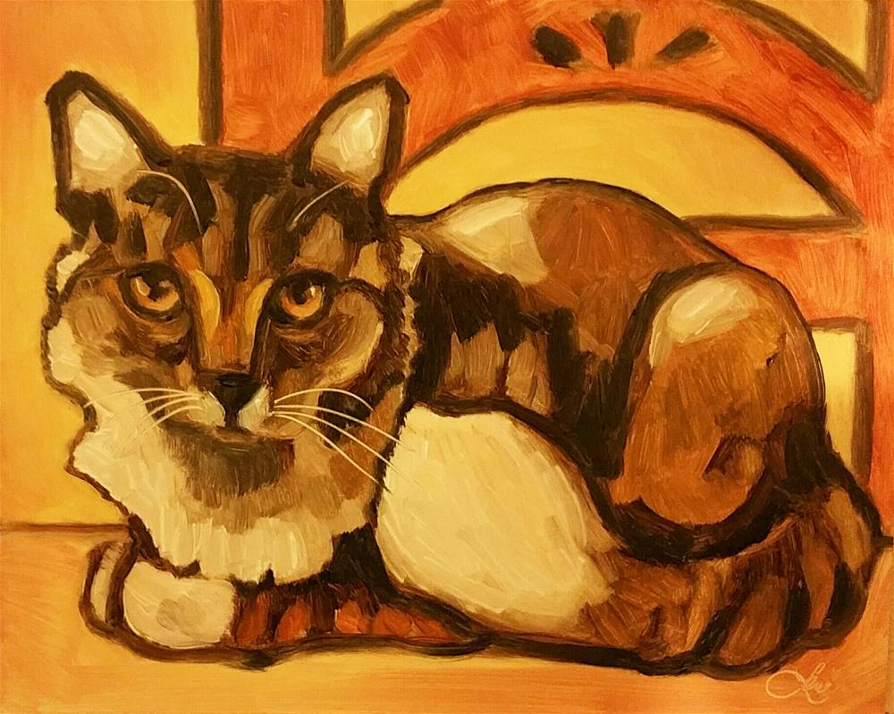 """Country Kitty"" original fine art by Leni Tarleton"