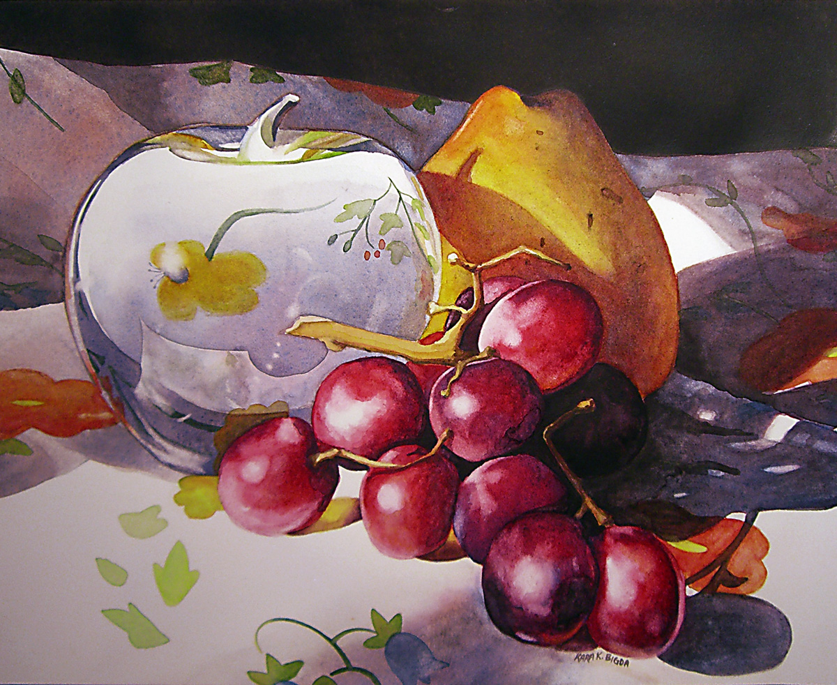 """The Glass Apple"" original fine art by Kara K. Bigda"