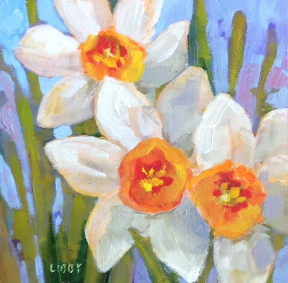 """Three Stars"" original fine art by Libby Anderson"