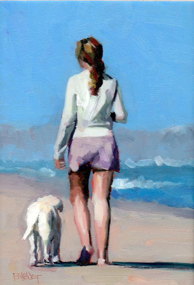 """#292 Off The Leash"" original fine art by Brian Burt"