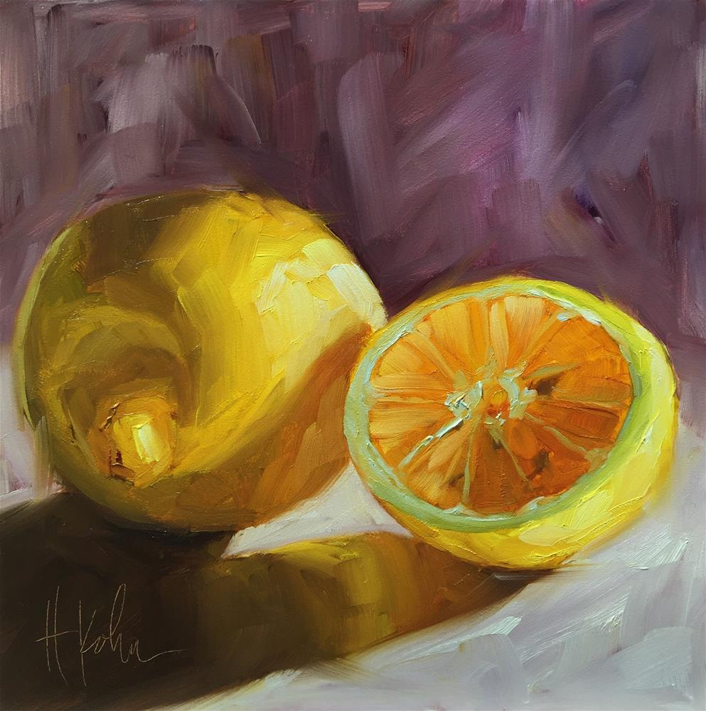 """Lemons"" original fine art by Hallie Kohn"