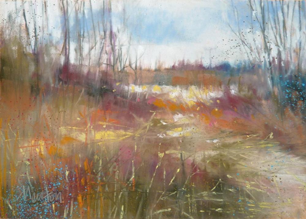 """""""Winter Walk"""" original fine art by Barbara Benedetti Newton"""