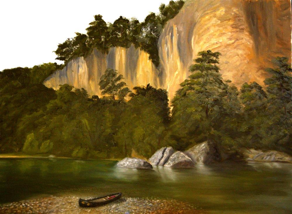"""Buffalo River Bluffs"" original fine art by Mary Datum"