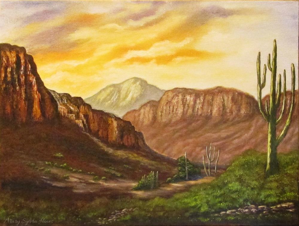 """Landscape 25"" original fine art by Mary Sylvia Hines"