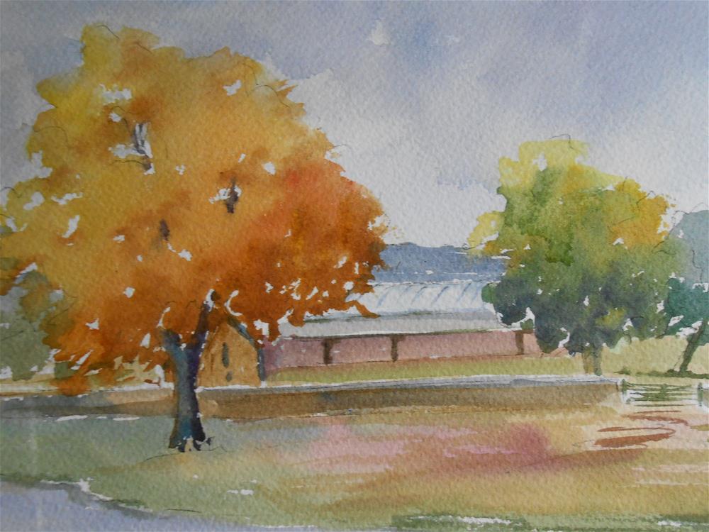 """""""Autumn View"""" original fine art by Graham Findlay"""