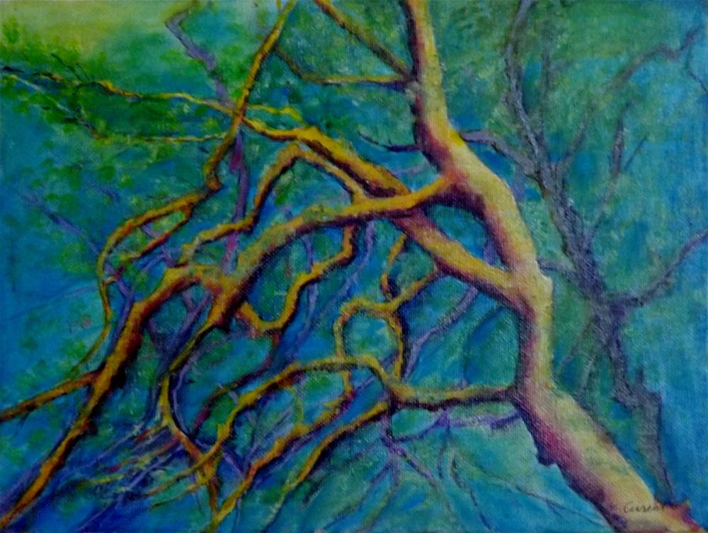 """Keawi Tree"" original fine art by Elizabeth Current"