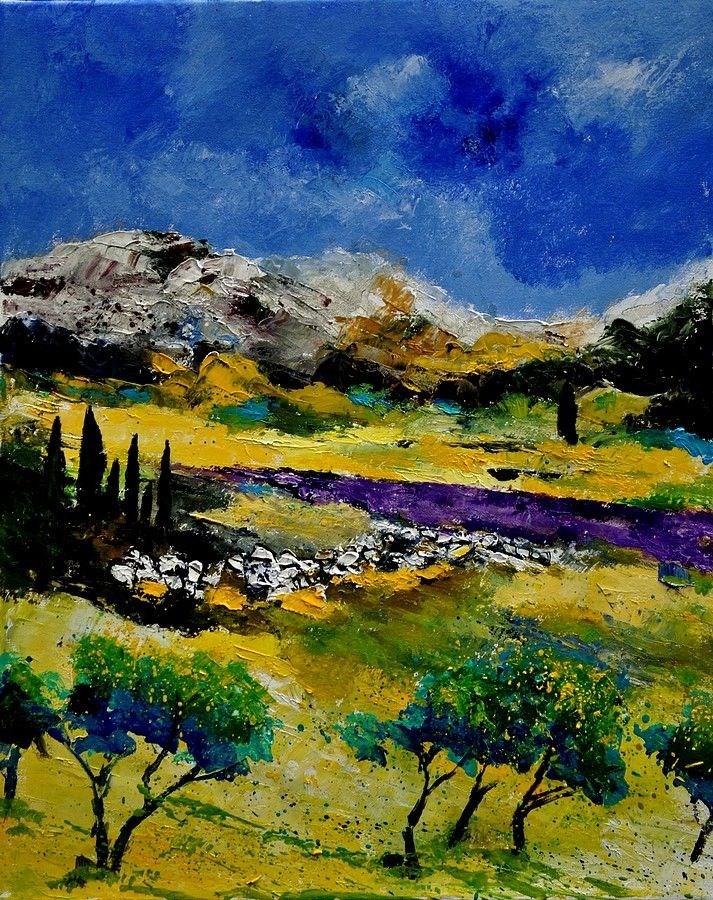 """Provence 452121"" original fine art by Pol Ledent"