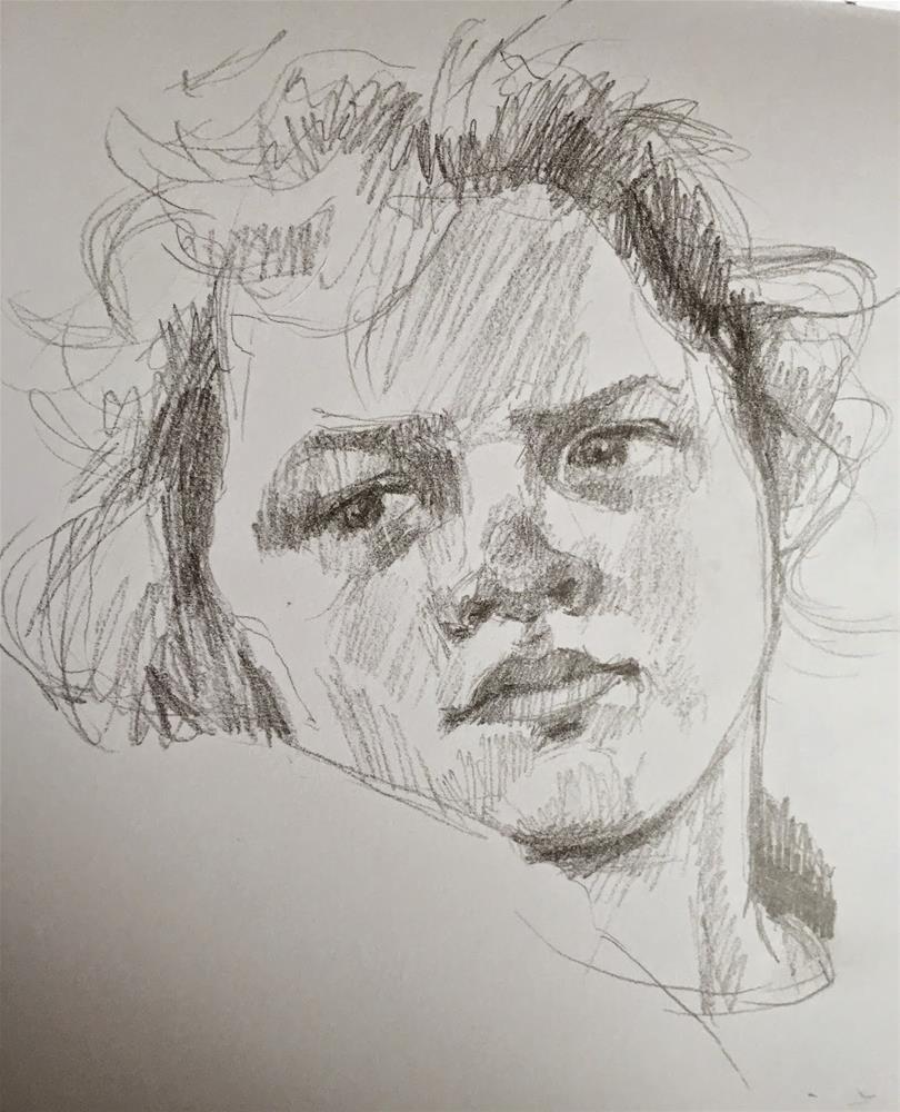 """""""Sketchbook peek"""" original fine art by Haidee-Jo Summers ROI"""
