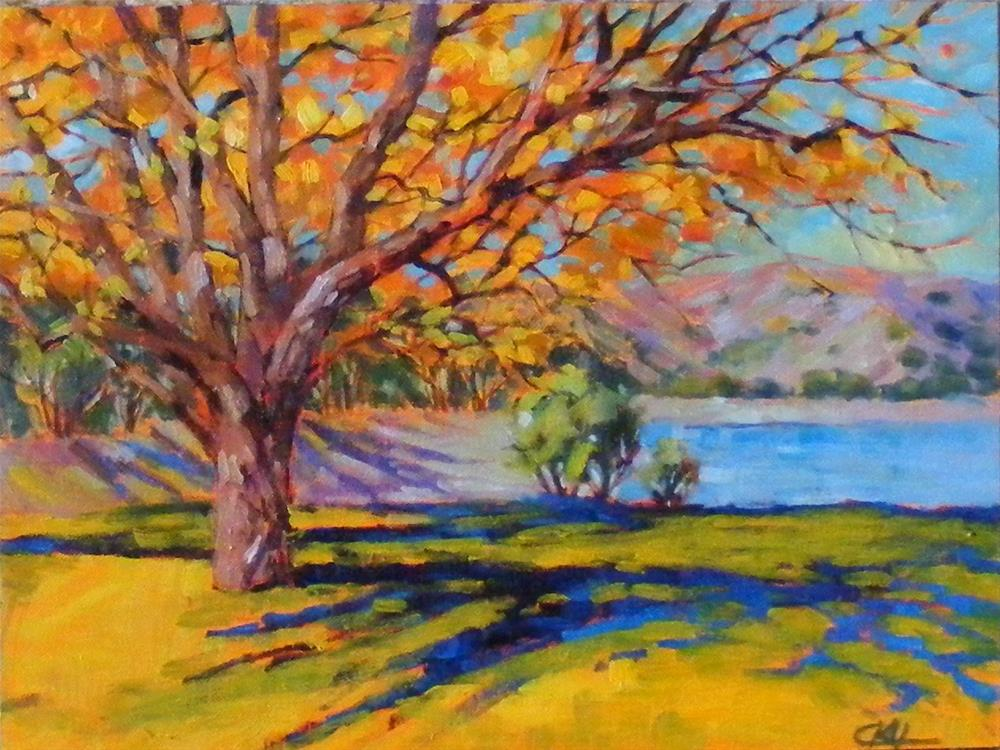 """Table top autumn"" original fine art by Celine K.  Yong"