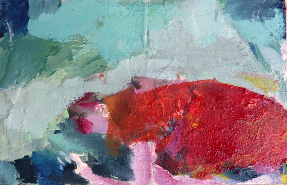 """Liegende Figur mit rotem Mantel / lying figure with red coat"" original fine art by Mila Plaickner"