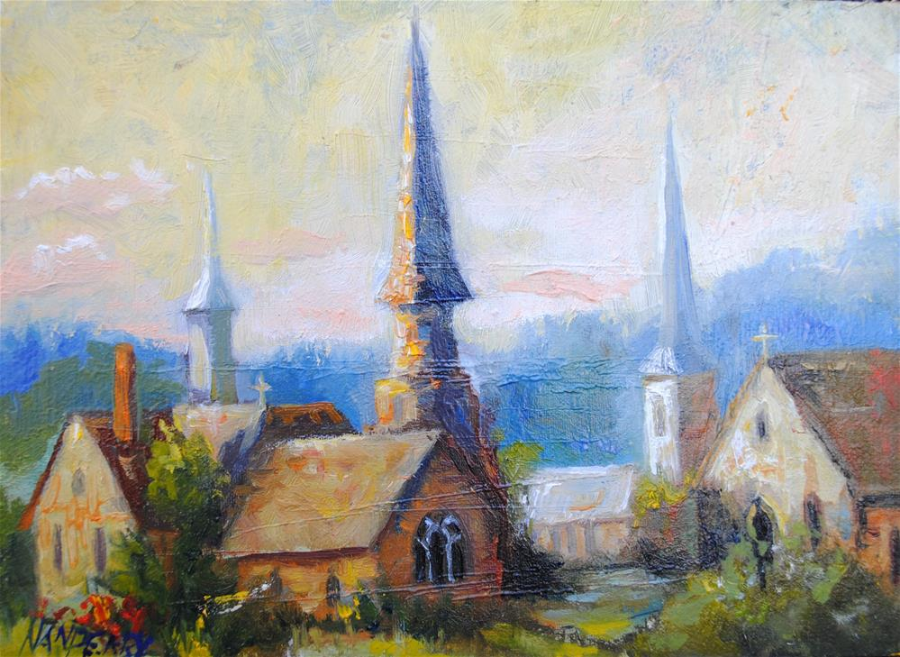 """Churchton"" original fine art by Nan Perry"
