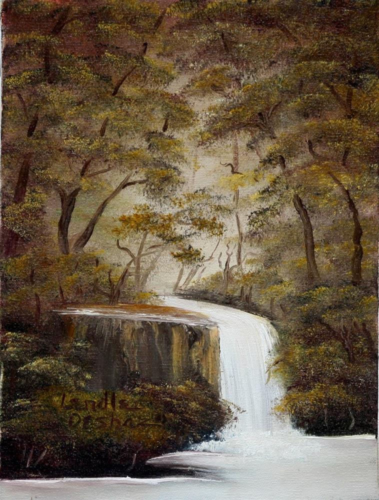"""Waterfall"" original fine art by Lendel Holmes"